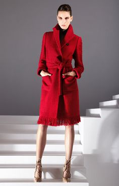 ESCADA Fall/Winter 2012 blanket coat with fringe (cotton/wool/mohair)