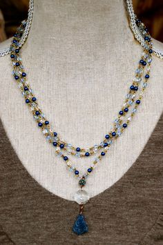 Veronique. blue sapphire crystal by tiedupmemories on Etsy, $78.00