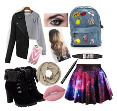 """""""BACK TO SCHOOL#FALL"""" by helloitsstacy ❤ liked on Polyvore featuring LE3NO, John Lewis, Casetify, Maybelline, Lime Crime and NARS Cosmetics"""