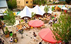 Die 8 angesagtesten Sommer-Restaurants in Zürich Zurich, Community, Patio, Urban, Vacation, Architecture, City, Restaurants, Outdoor Decor