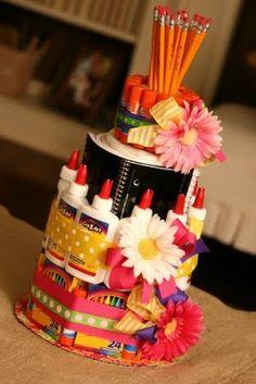 school supply cake teacher-gifts