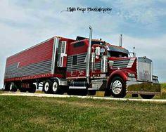 Custom Big Rigs, Custom Trucks, Big Rig Trucks, Semi Trucks, Freightliner Trucks, Road Train, Kustom, Big Boys, Trailers
