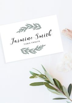 No chaos on your wedding day. Show your guests their place with these rustic wedding place cards. Simply download, edit and print. And there is no need for you to choose between foldable or flat, because both templates are included! Editable Wedding Place Cards Template // Printable Place Cards // Wedding Name Cards // Wedding Printables // Wedding Seating Cards // PDF Instant Download // #wedding #placecards #namecards #seatingcards #greenerywedding #greenleaves #botanicalwedding…
