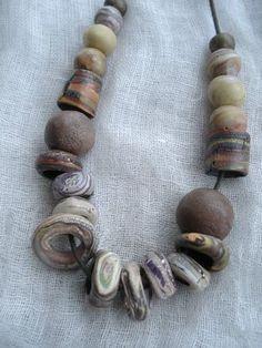 Fimoti Fimota - faux stone polymer clay beads.