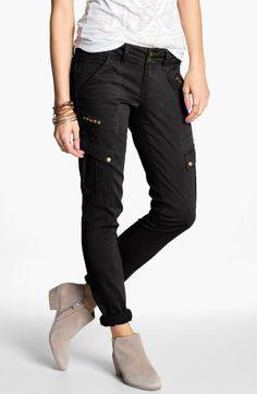 Studded skinny cargo pants.