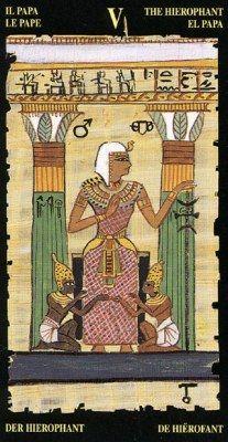 Egyptian Tarots. Аркан V Первосвященник.