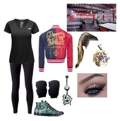 """""""Teaching at Performance Center"""" by lyrick-rose on Polyvore featuring Jockey, The North Face and Converse"""