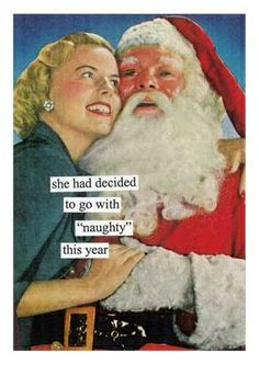 """she had decided to go with """"naughty"""" this year"""