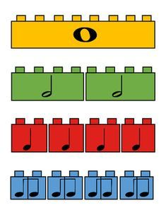 Day by Day Music Rhythm Lego Poster! by Day by Day Music