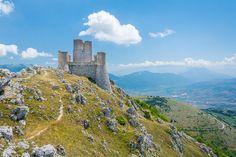 Abruzzo Photography Print, Rocca Calascio, L'Aquila, Italy, Gran Sasso, castle, fortress, Ladyhawk, mountains, landscape, panorama