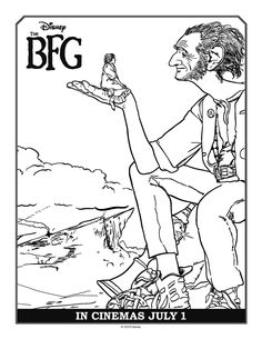 BFG Coloring Pages - Best Coloring Pages For Kids Disney Coloring Pages, Free Printable Coloring Pages, Colouring Pages, Coloring Pages For Kids, Coloring Sheets, Coloring Books, Free Printables, Kids Colouring, Disney Printables