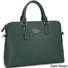 Dasein Slim, Rolled Handle Briefcase Satchel Handbag with Removable Shoulder Strap, Women's