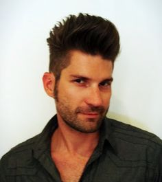 Fun mens cut.... clipper on side and fade to top.... sheers on top to level everything out... level 4 color....