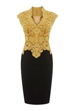 yellow lace dress for mother of the bride