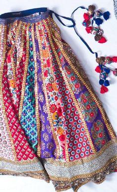 get your customized patch work at sajsacouture@gmail.com Indian Wedding Outfits, Indian Outfits, Traditional Fashion, Traditional Outfits, Indian Attire, Indian Wear, Garba Dress, Patiala Salwar, Anarkali