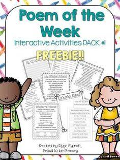 Poem of the Week Interactive PACK #1 FREEBIE