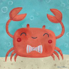 Oopsy Daisy Let's Set Sail Crab by Anne Bollman Canvas Art & Reviews   Wayfair