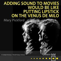 """Adding sound to movies would be like putting lipstick on the Venus de Milo."" Queen of the Movies #MaryPickford was born 125 years ago today. She was a movie star of the silent era, a co-founder of the film studio United Artists and one of the original 36 founders of the Academy of Motion Picture Arts and Sciences. Mary Pickford found her career fading as talkies became more popular among audiences."