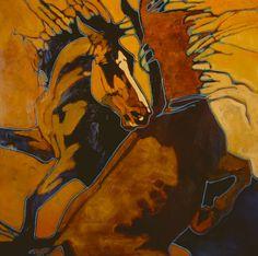 """On the Wild Side"" - Originals - All Artwork - Peggy Judy Contemporary Mixed Media Art, Watercolor Horse, Farm Art, Horse Drawings, Art For Art Sake, Equine Art, 2d Art, Horse Art, Western Art"
