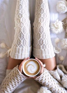 Ooohhh Cosy! I want a pair of these extra long thick knitted socks | Super cute