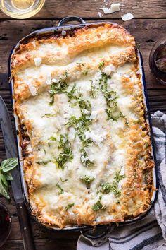 Pesto Bolognese Lasagna   halfbakedharvest.com #pasta #Italian #lasagna #cheese #holidayrecipes Pasta Recipes, Dinner Recipes, Cooking Recipes, Budget Cooking, Oven Recipes, Easy Cooking, Recipies, Italian Dishes, Italian Recipes