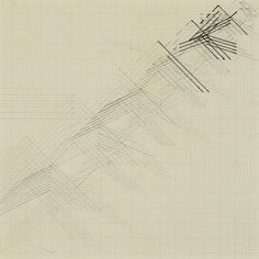 Nasreen Mohamedi: Untitled, ink and graphite on graph paper