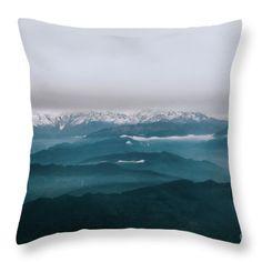 Mountain Echos Throw Pillow by Jessica Lia