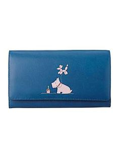 Radley Sky`s the limit blue large flap over purse - House of Fraser