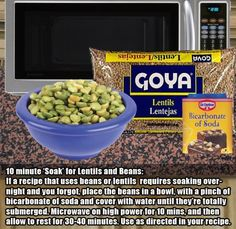 16.) Don't want to soak beans overnight?