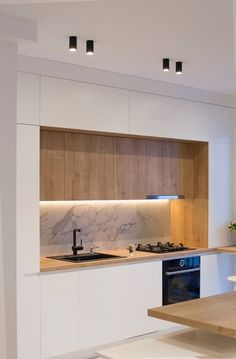 Minimal kitchen design – diy kitchen decor on a budget Minimal Kitchen Design, Kitchen Room Design, Kitchen Cabinet Design, Home Decor Kitchen, Interior Design Kitchen, Home Kitchens, Modern Kitchen Cabinets, Interior Livingroom, Kitchen Counters