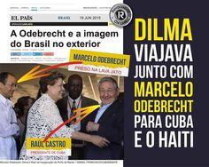 A CÔRTE* E A ELITE BRANCA* rt @PresbEvandro DILMA VIAJAVA JUNTO COM MARCELO ODEBRECHT PARA CUBA.