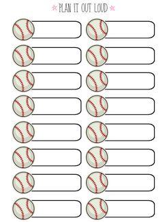 Icon label sports sticker set (Erin Condren stickers)