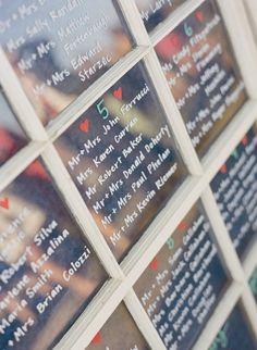 Window Pane Seating Chart   Jocelyn Filley Photography https://www.theknot.com/marketplace/jocelyn-filley-photography-vineyard-haven-ma-366475   Event Day Coordination https://www.theknot.com/marketplace/event-day-coordination-vineyard-haven-ma-646104