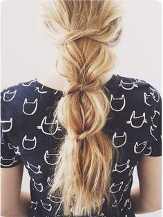 11 Knotted Ponytail Hairstyles That Look Chic When You Just Cant Even via Brit + Co