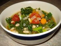 Kale and White Bean Soup - Loren is going to love this