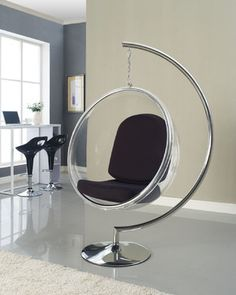 white hanging wicker chair - Google Search