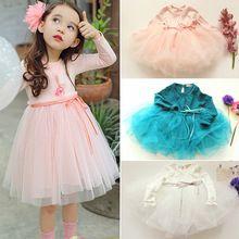 Lovely Girls vestido de NUEVO 2016 modelos de Primavera y Otoño Princesa de Corea del Temperamento vestidos de calidad de los bebés lindos niños ropa(China (Mainland))