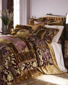 """""""Juliet"""" Bed Linens by Dian Austin Villa at Horchow."""