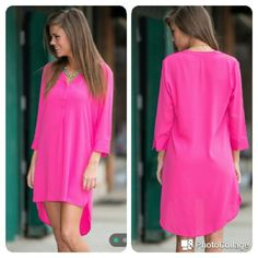 Listing A'gaci  Fuschia Blouse Dress & Top A'gaci  Fuschia Blouse Dress & Top  Great conditions   Super cute   It could be worn as a blouse or  a Dress  Listed in ♏ecari for a lower price . Use code  QJDWCT or Search for StylinIsMypassion36   ❌ FINAL PRICE ❌❌❌ a'gaci Dresses Mini