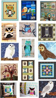 Free Pattern Day : OWLS :  Quilt Inspiration