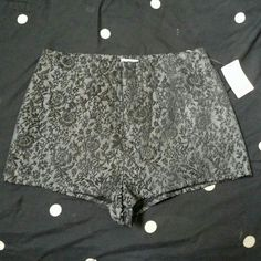 NWT High waisted shorts Pins & needles high waisted shorts. NEVER been worn. The third picture is the pattern lightened so you can see.   No trades but will consider reasonable offers via offer button ?? Pins & Needles Shorts