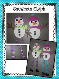 Snowman Glyph--write speech words in the legs to take home and hang up for winter break practice