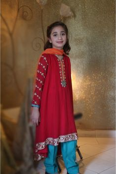 Pakistani Dress Designs for Girls - Maria B. Kids Collection 2014 http://www.latestasianfashions.com/pakistani-dress-designs-girls-maria-b-kids-collection-2014/