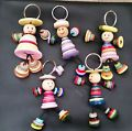 1 Button Person Keyring Handmade Gift...