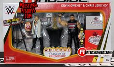Festival of Friendship (Chris Jericho & Kevin Owens) - WWE Epic Moments WWE Toy Wrestling Action Figures by Mattel!