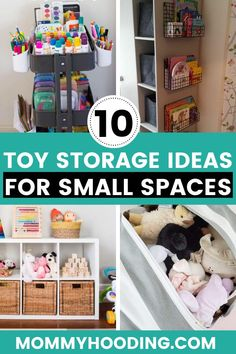 Toy storage ideas for small spaces, like the living room, small bedrooms, closets. These small space