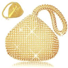 ELEOPTION Women Ladies' Evening Clutch Wedding Purse Handbag for Party Prom (gold) >>> You can get more details by clicking on the image.