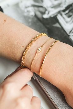 Shop stacking bracelets, choose rose gold, yellow gold or sterling silver bracelet combinations | Astley Clarke