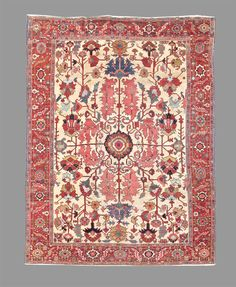 Oriental Rug - Persia, Late 19th C Serapi