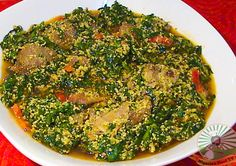 Egusi Soup, Obe Efo elegusi , How to cook Egusi Soup